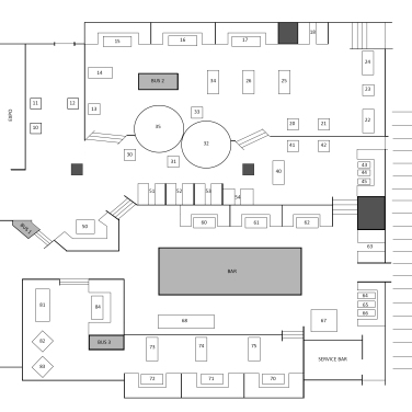 TGI Fridays Staff Floor Plan
